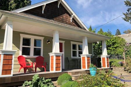 Modern Craftsman, Sunny Covered Porch + EV Charger