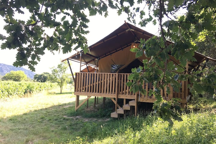 Safari Lodge Familial, Camping nature en Ardèche