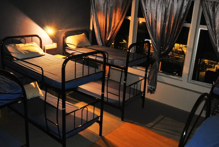 8 bed dorm with A/C RM20 per night per bed