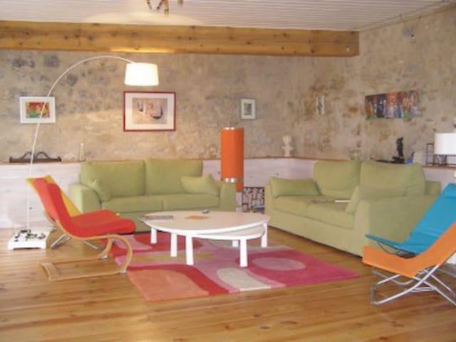 Maison de village avec piscine - Ladern-sur-Lauquet - Casa