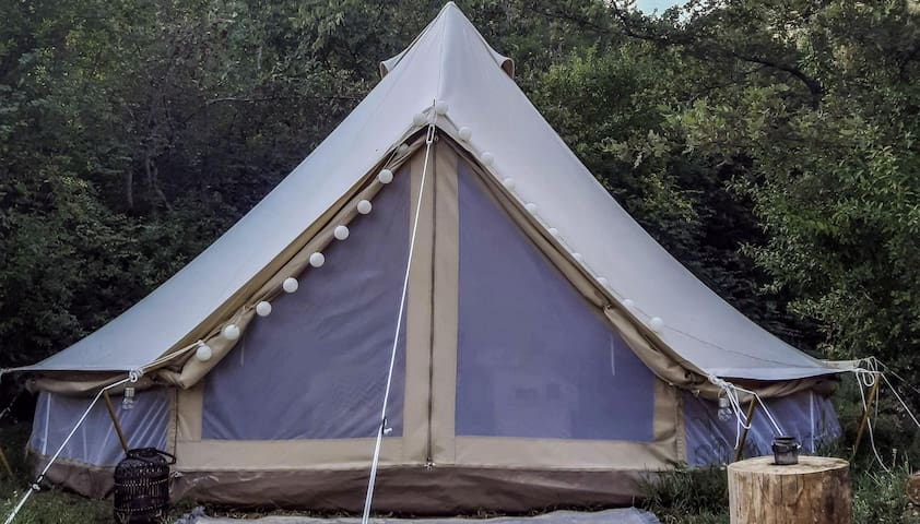 Hoopoe Glamping - idyllic Bell Tent. Lake Skadar