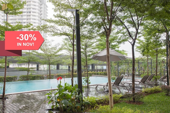 COZY 2BR TTDI Ascencia 2, POOL, GYM + FREE PARKING