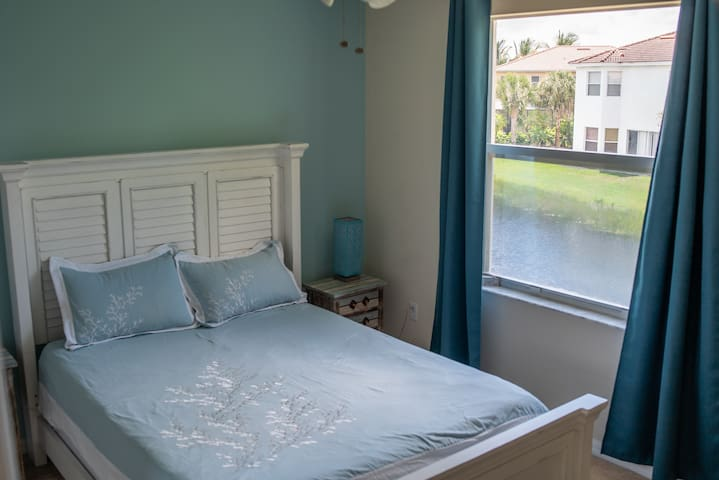 enjoy the lake view from your bedroom