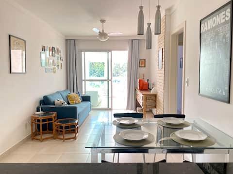 Apartamento na praia da Bacutia - Enseada azul