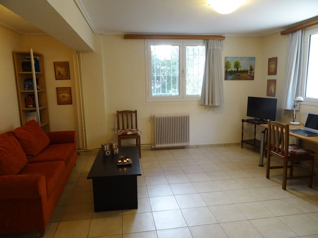Homy apartment near city center-25' from airport - Filothei - Apartemen