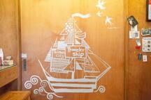 房門的彩繪 Door Painting