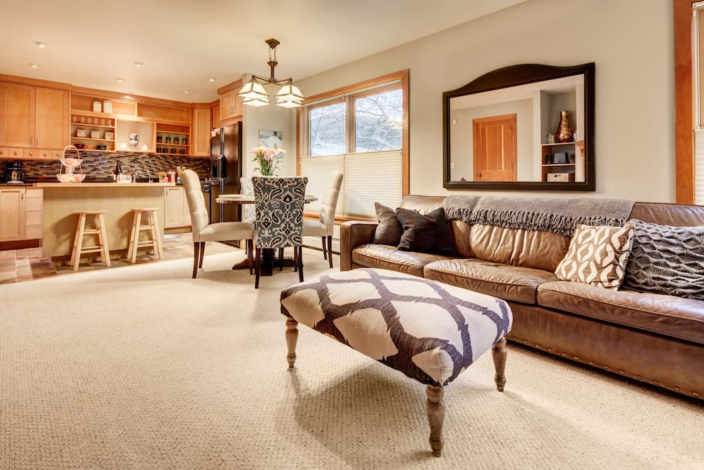 Open kitchen, dining and living room - perfect for a family or friends