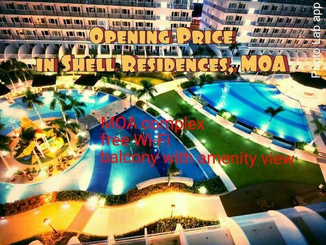 Shell Res.8F Modern Room w/ Balcony Amenity View - Pasay City - Condominium