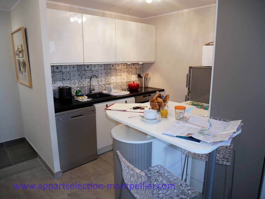 La cuisine de l'appartement Koh I Noor By Appart Selection Monptellier