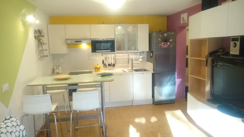 Colorful City Center Apartment - Lubiana