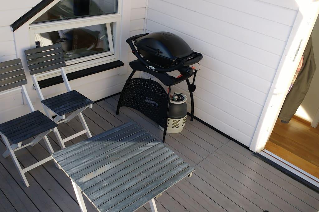 BBQ on balcony