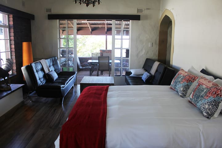 The African Room Open Plan Self Catering suite