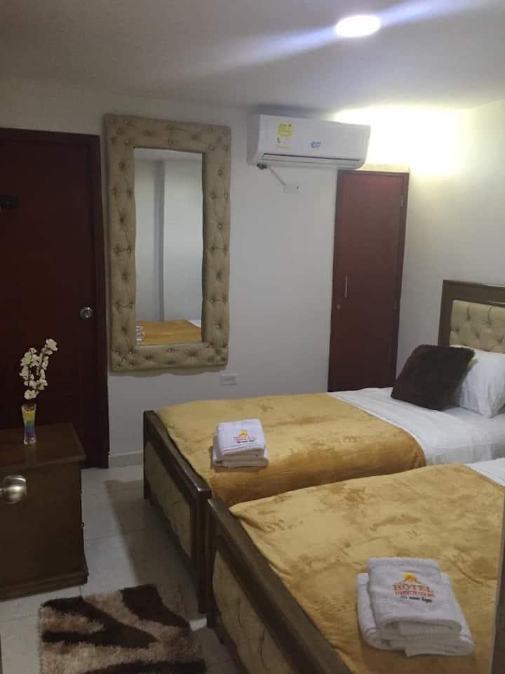 Habitación en hotel atardecer guajiro