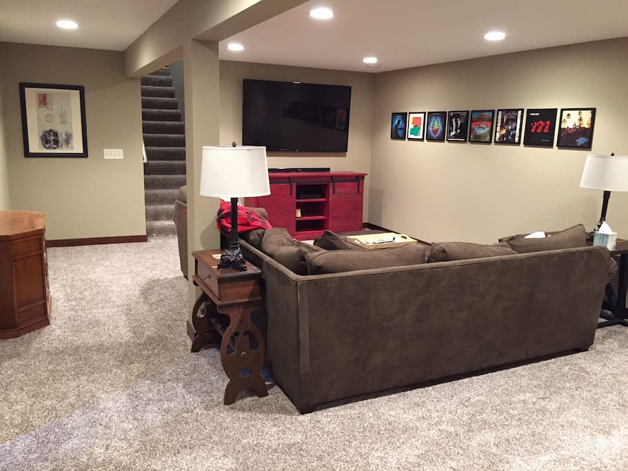 Another view of spacious family room area