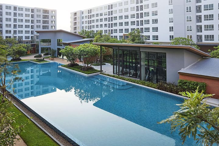 New condo 2room2min to largest Mall - ตำบล ฟ้าฮ่าม - Appartement