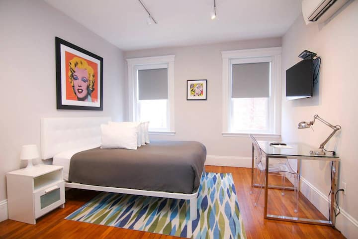 A Stylish Stay w/ a Queen Bed, Heated Floors; #35