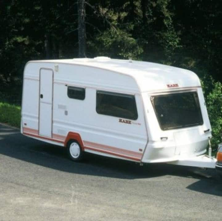 Fin husvagn för 4 personer