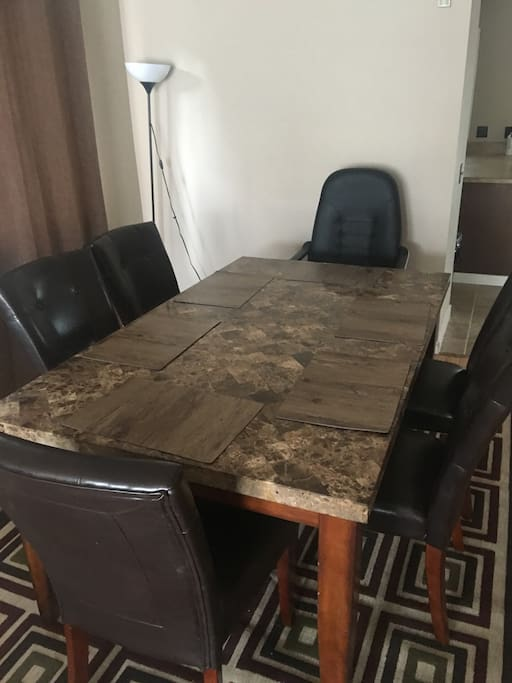 Granite Countertop table with plenty of space