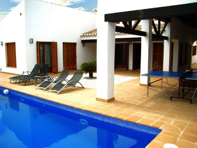 El Valle luxury villa with pool and hot tub.