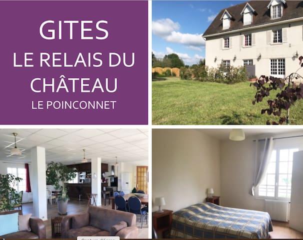 Le Relais du Château Gîte de 3 à 6 pers. 5ch/5sdb