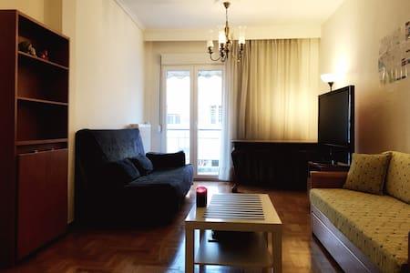 Ευρύχωρο δωμάτιο στο κέντρο με τηλεόραση 50''+WIFI - 塞薩洛尼基 - 公寓
