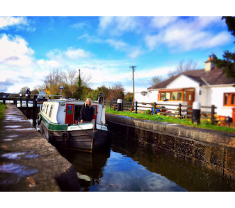 Maynooth Charming barge on Royal Canal