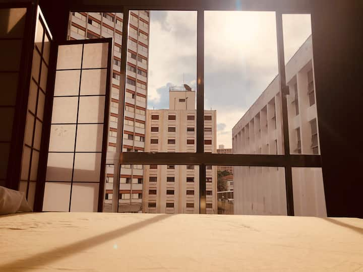 D - loft completo - próximo av paulista, hospitais