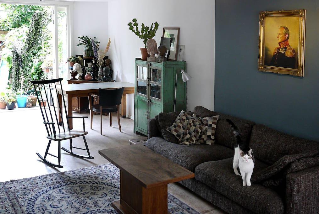 Livingroom, view towards the garden