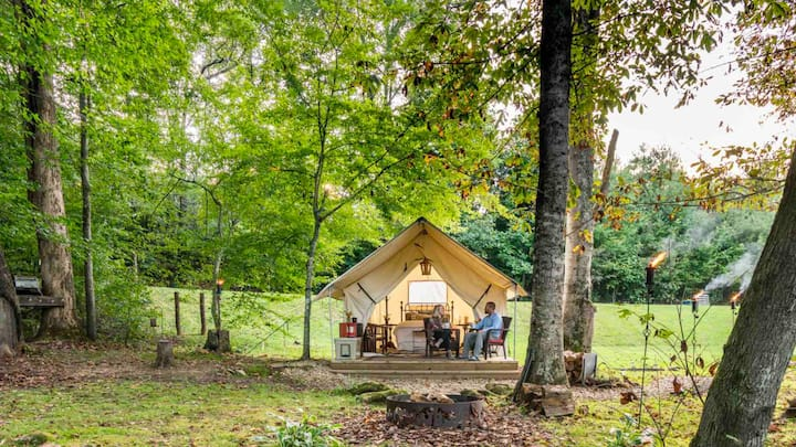 Smoky Mountain Glamping -  NC Creekside Tent