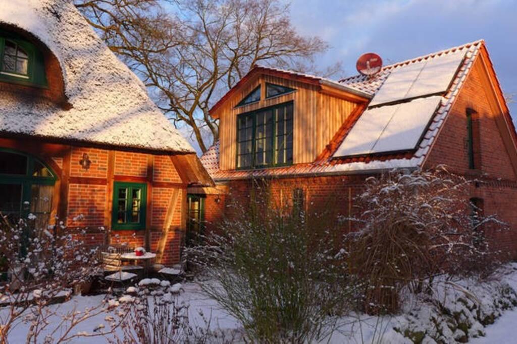 Ansicht der Ferienwohnung im Winter