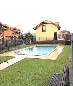 Suances playa - casa con piscina y jardín