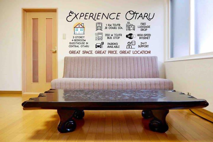 A)New&Cheap Guesthouse☆Experience Otaru Hanazono