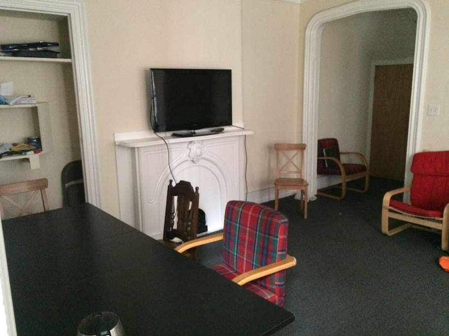 Living room in the center of the house