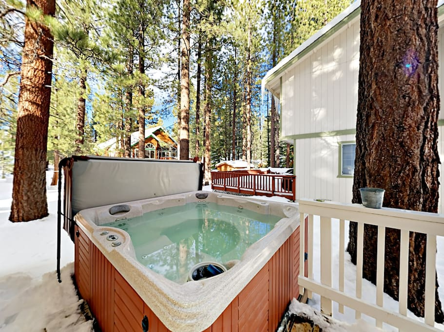 Soak in your private hot tub after exploring the mountain.
