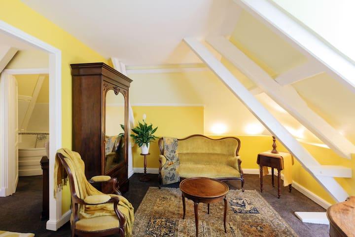 Chambre spacieuse au Manoir du Clap
