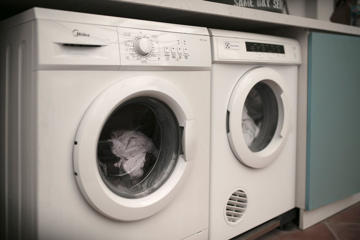 Laundry Area with washing machine and dryer