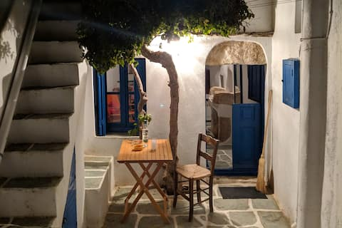 Old Cycladic House in the heart of the Chora.