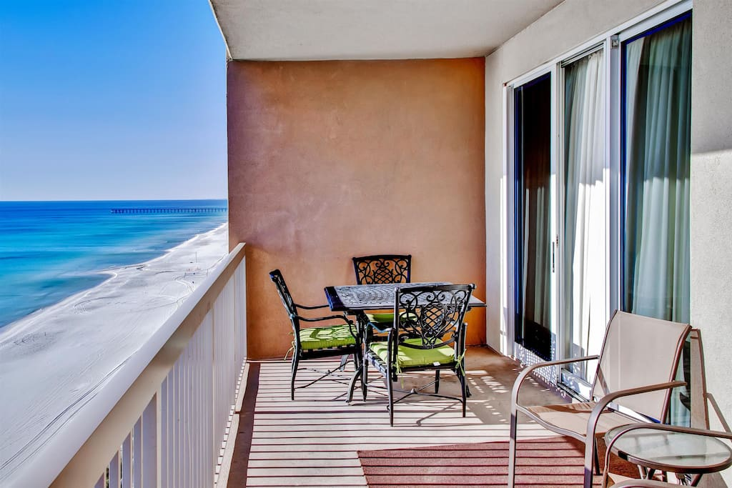 Admire phenomenal Gulf views from the unit's large private deck