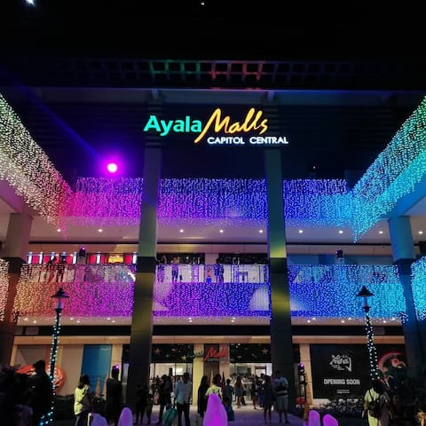 10mins walk to Ayala Mall Capitol Central