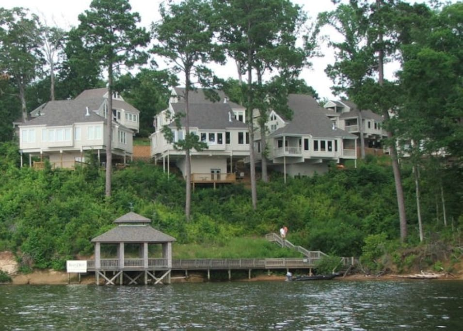 Villa View from the lake.