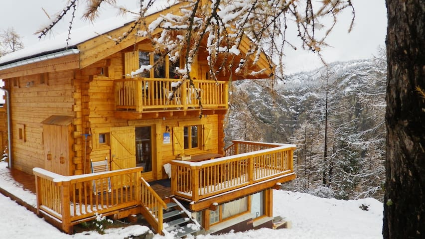 Chalet bois massif,  vue imprenable sur l'alpage - La Condamine-Châtelard