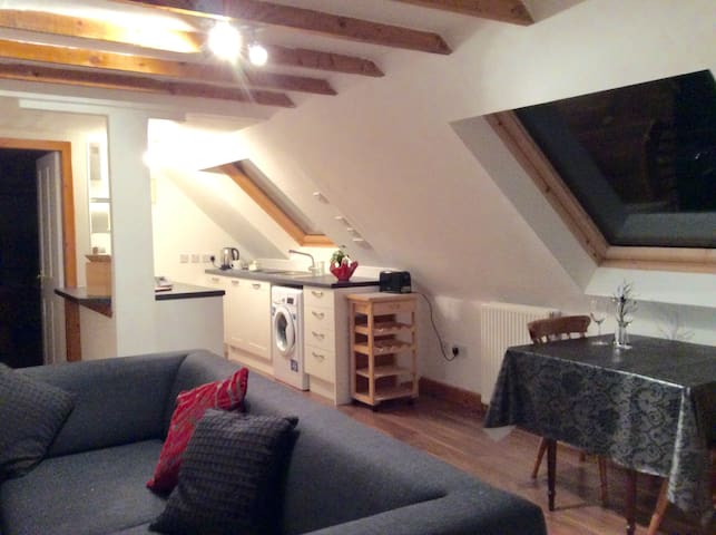 Open plan loft apartment with character in Angus