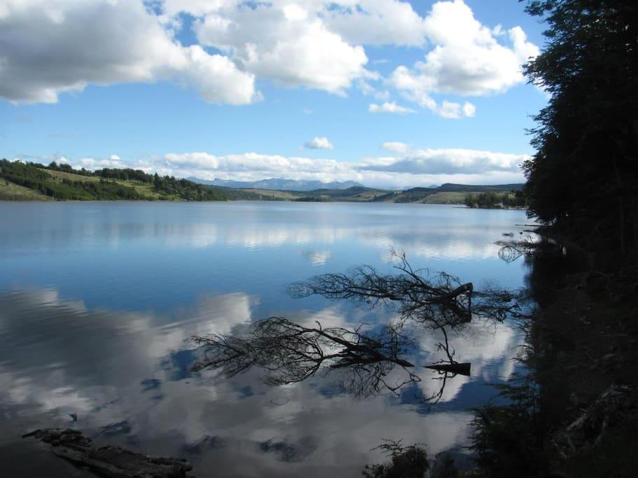 Vista del lago desde el Refugio del pollux