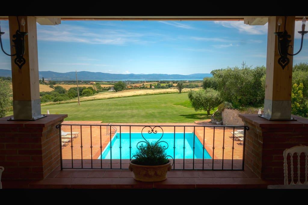 Villa/pool view