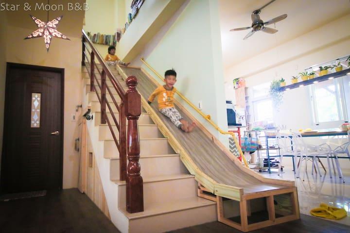 超刺激的手作溜滑梯