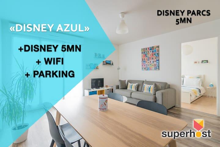 💙Disney Azul 💙- Disneyland 5mn+Wifi+parking