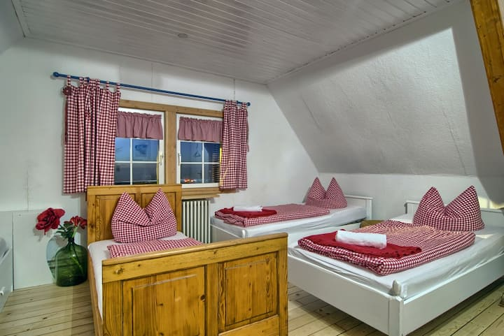 Gasthaus zur großen Tanne, (Bühl-Unterstmatt), Classic Vierbettzimmer mit Bergblick