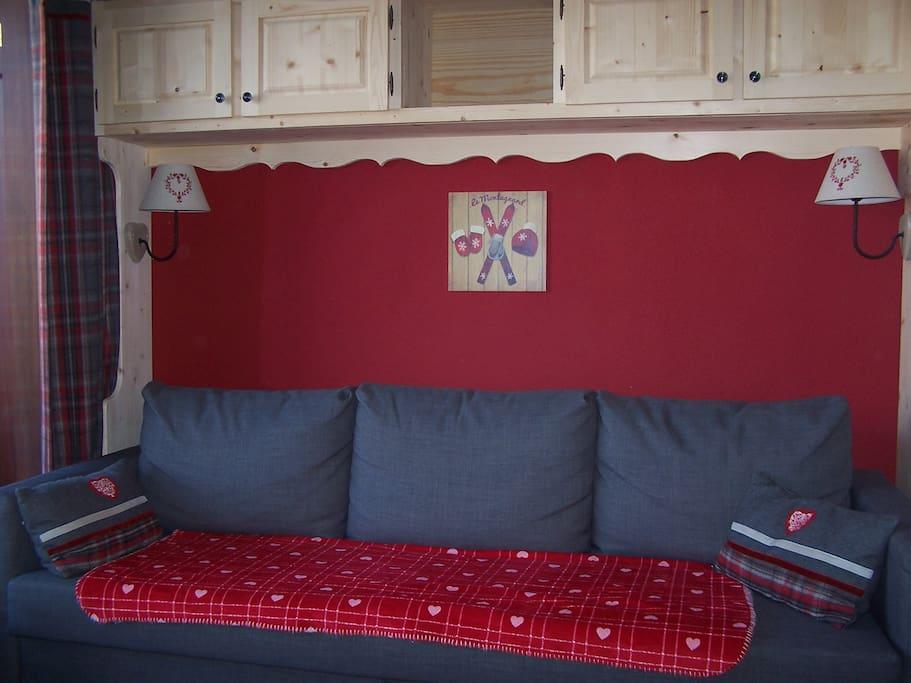 salon cosy et confortable