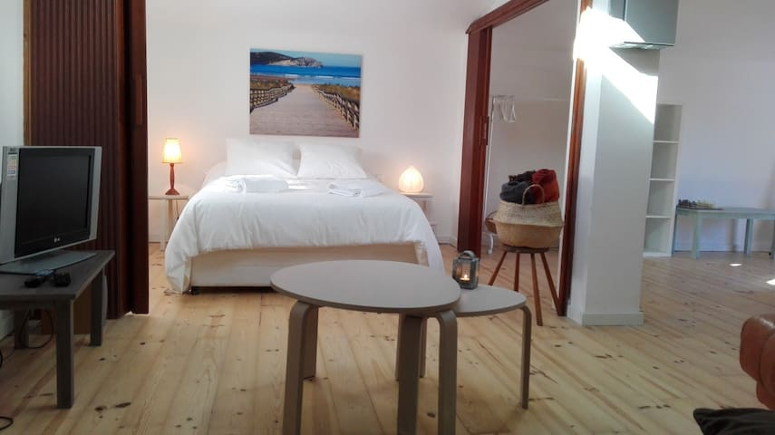 Cozy 40m attic room. Private bathroom - Gorliz - Huis