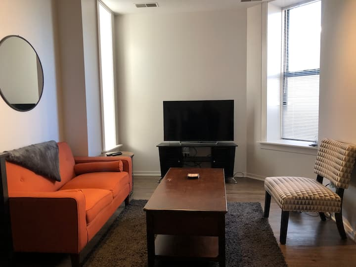 Modern South Loop pad. Super convenient location!